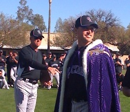 Rockies manager Jim Tracy presents Matt Belisle as Rag Ball King.jpg