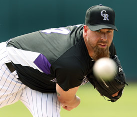 Tim Redding made his Rockies debut on Saturday. (Ed Andrieski, The Associated Press).jpg