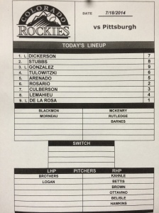 7-18 lineup