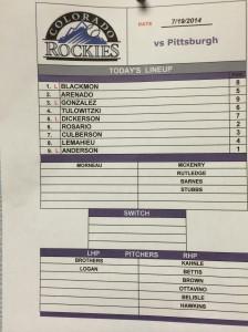 7-19 lineup