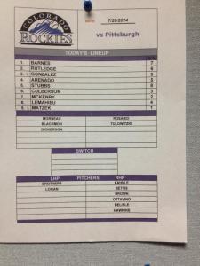 7-20 lineup